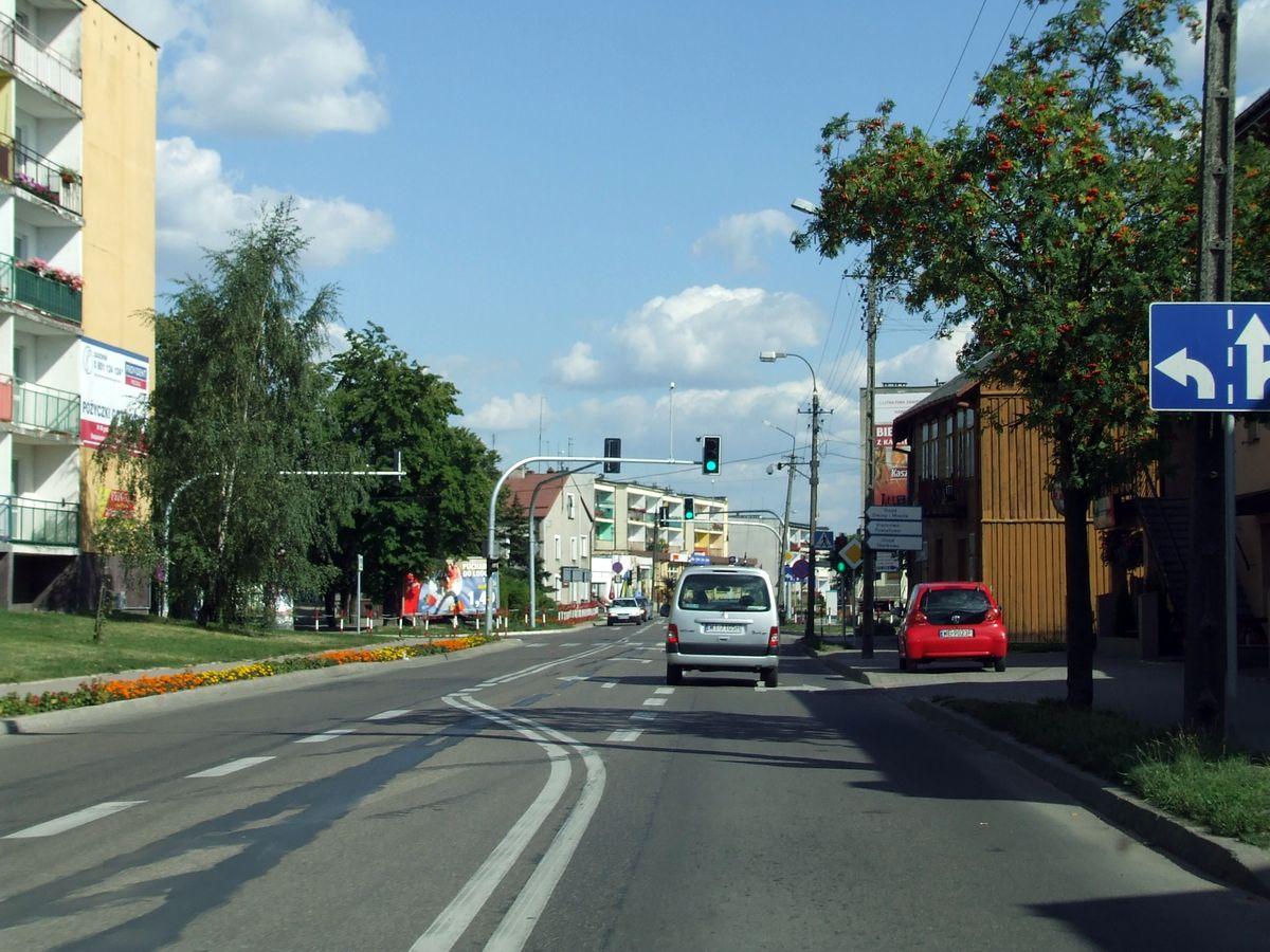 Widok ulicy w mieście Żuromin